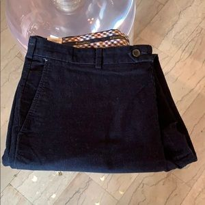 "Brooks Brothers ""Milano"" Navy Blue Corduroy Pants"